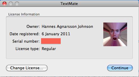 TextMate License Information